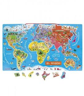 Puzzle Magnetico Mundo - Janod