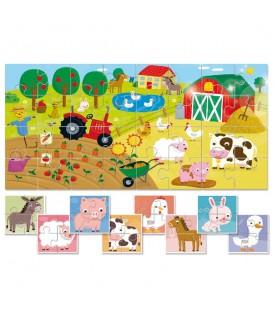 BAby Puzzle 8 más 1 la granja - Ludattica
