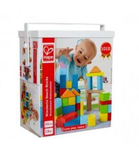 Puzzle de madera 101 bloques - Hape