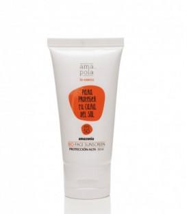 Crema Hidratante Facial con Protección Solar Alta SPF 50 - amazonia bio