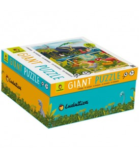Puzzle gigante dinosaurios 48 piezas Ludattica