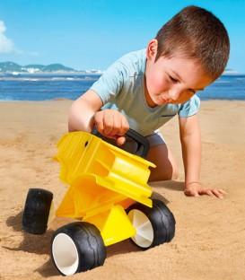 Camión para la arena amarillo Hape