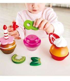 Cupcakes de madera Hape