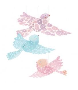 Móvil colgante con pájaros de purpurina - Djeco
