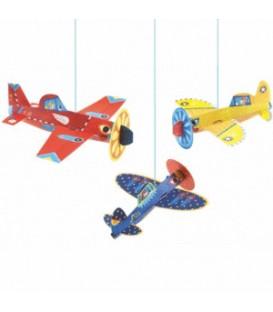 Móvil colgante con aviones - Djeco