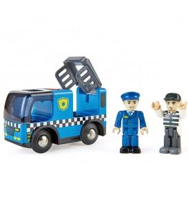 Coche de policía con sirena de luz y sonido - Hape