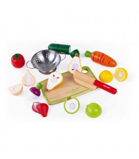 Maxi Set de Frutas y Verduras Velcro Green Market - Janod