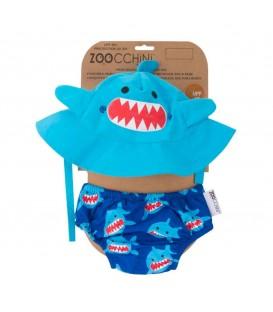 Conjunto bañador y gorro Tiburón - Zoocchini